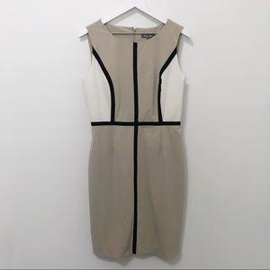 Roz & Ali DressBarn Colorblock Sheath Dress